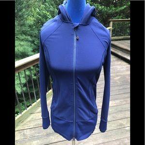Lululemon navy blue fitted hoodie Sz 8